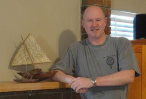Bob Raymond with Marshallese Canoe