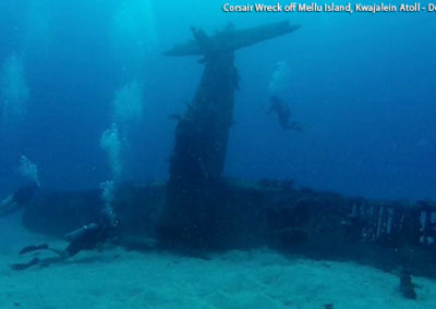 Corsair Wreck at Mellu Island - 6 December 2015 - Photo Credit: Dan Farnham