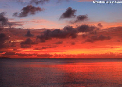 Kwajalein Lagoon Sunset - 22 July 2017 - Photo Credit: Jason Huwe