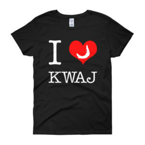I Love Kwaj Womens t-shirt - black