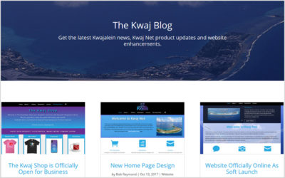 Launch of the Kwaj Blog