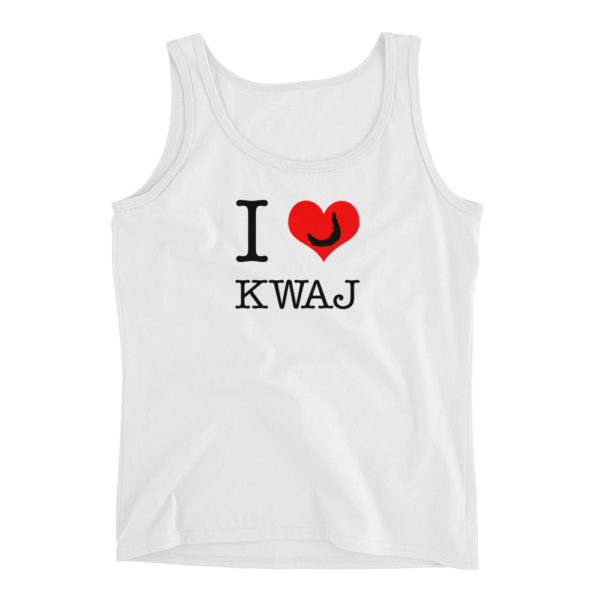 I Heart Kwaj Womens Tank Top - White