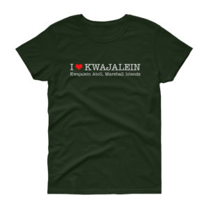 I Heart Kwajalein Women's T-Shirt - Wide Design - Black