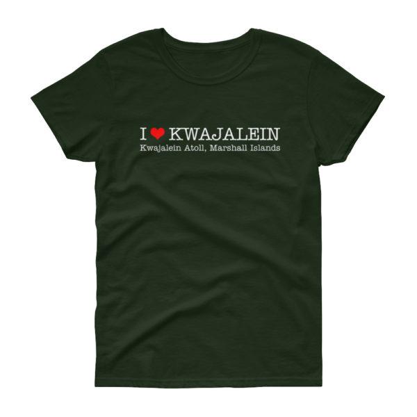 I Heart Kwajalein Women's T-Shirt - Wide Design - Black