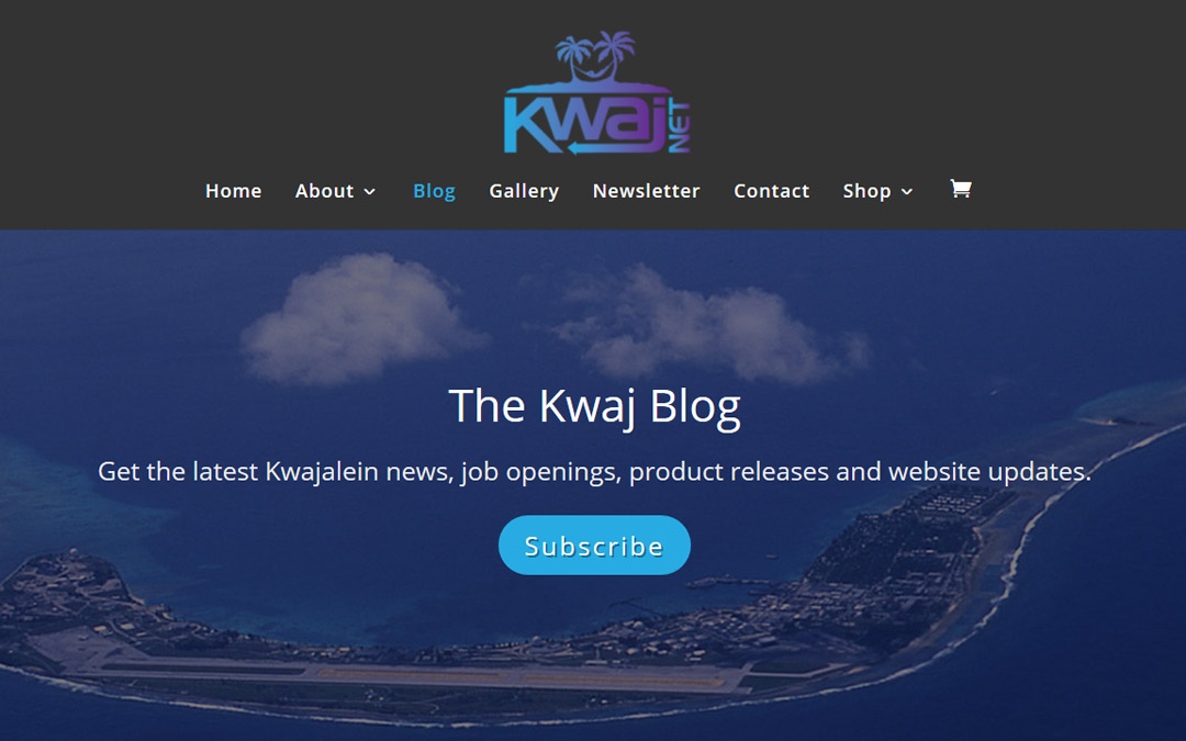 Subscribe to The Kwaj Blog