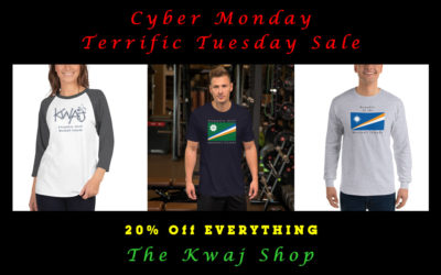 The Kwaj Shop's Cyber Monday / Terrific Tuesday Sale
