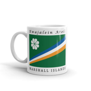 Kwajalein Atoll Flag Coffee Mug 11oz - Product Photo - Right