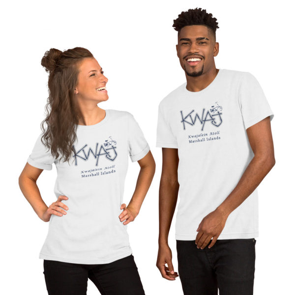 Kwaj Bike Short-Sleeve Unisex T-Shirt – White