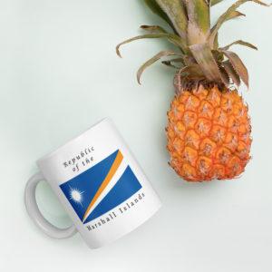 Republic of the Marshall Islands Flag Coffee Mug - Product Photo - Left