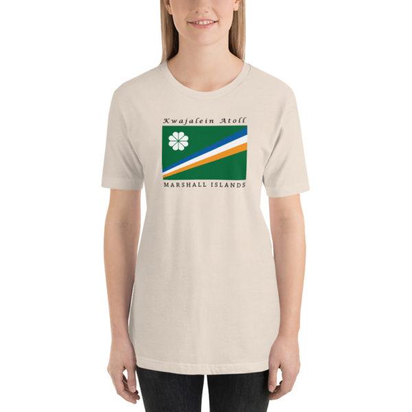 Kwajalein Atoll Flag Short-Sleeve Unisex T-Shirt – Soft Cream