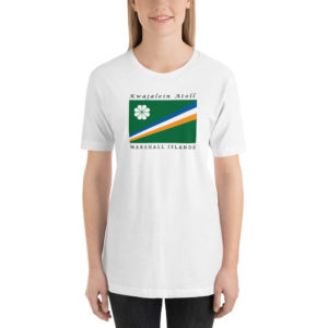 Kwajalein Atoll Flag Short-Sleeve Unisex T-Shirt – White