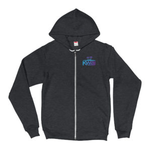 Kwajalein Atoll Marshall Islands Zip-up Hoodie with Logo Colors
