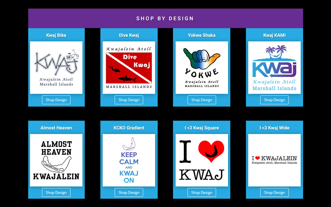 "The Kwaj Shop's New ""Shop by Design"" Section Now Available"