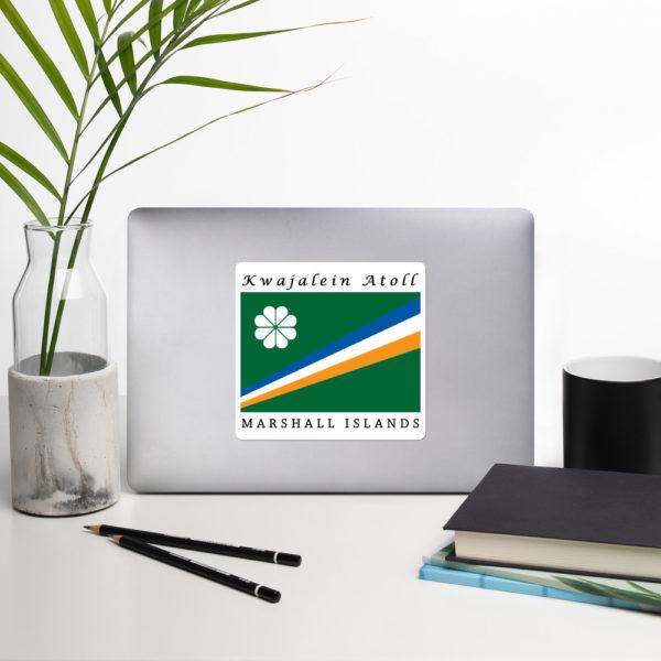 "Sticker - 5.5"" - Flag of Kwajalein Atoll Marshall Islands"