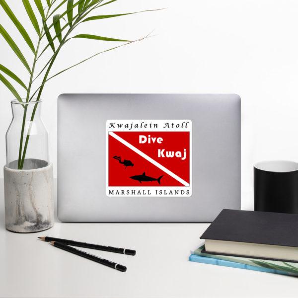 "Stickers - 5.5"" - Dive Kwaj - Kwajalein Atoll Marshall Islands"