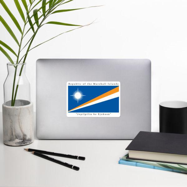 Sticker – 5″ – Republic of the Marshall Islands Flag