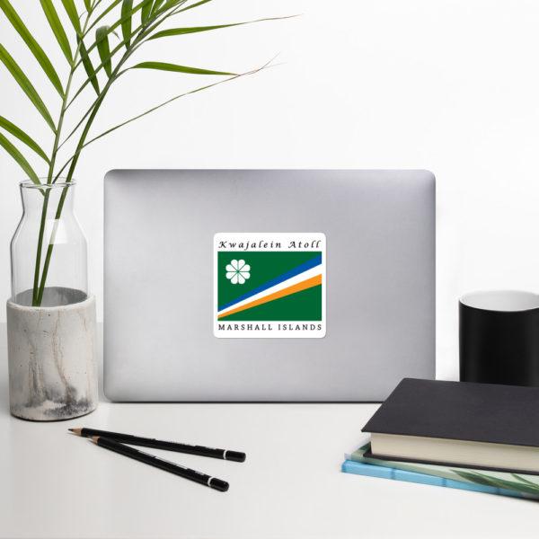 Sticker – 4″ – Flag of Kwajalein Atoll Marshall Islands