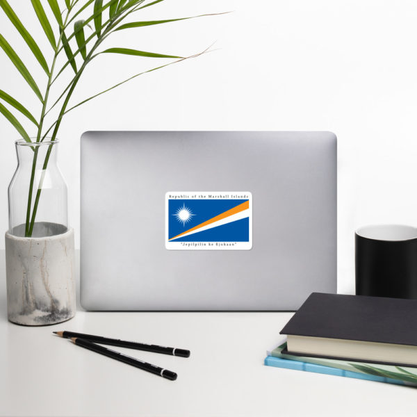 Sticker – 4″ – Republic of the Marshall Islands Flag