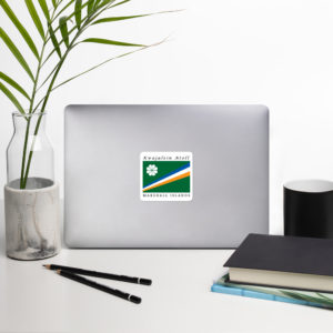 Sticker – 3″ – Flag of Kwajalein Atoll Marshall Islands