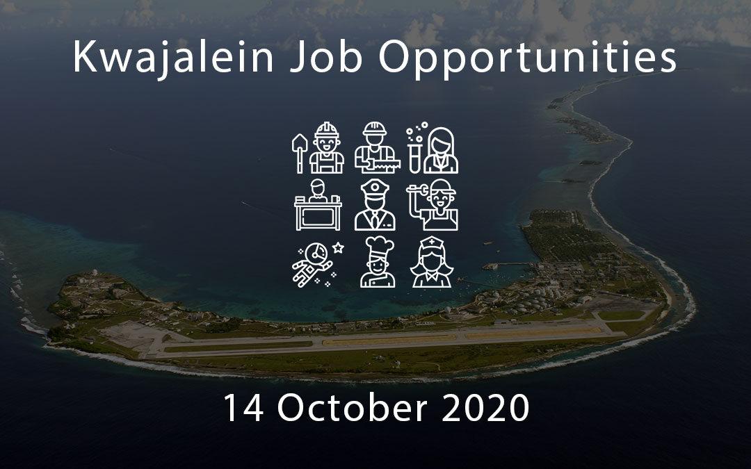 Kwajalein Job Opportunities 14 October 2020