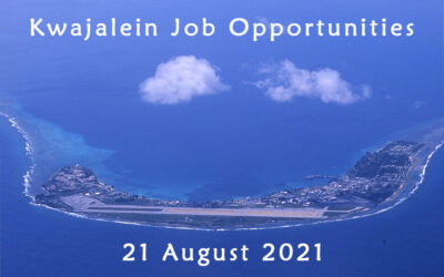 Kwajalein Job Opportunities – 21 August 2021