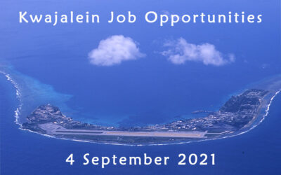 Kwajalein Job Opportunities 4 September 2021